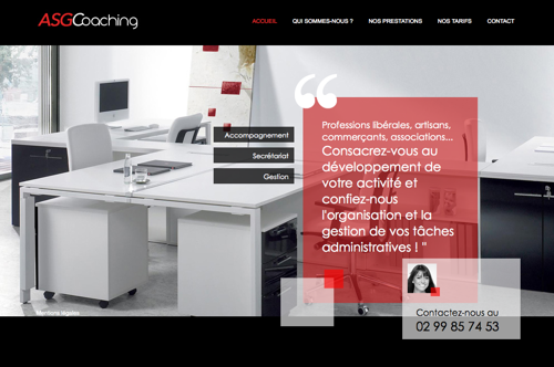 site web ASG-Coaching à Rennes